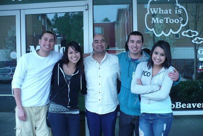 Ruben with his four children