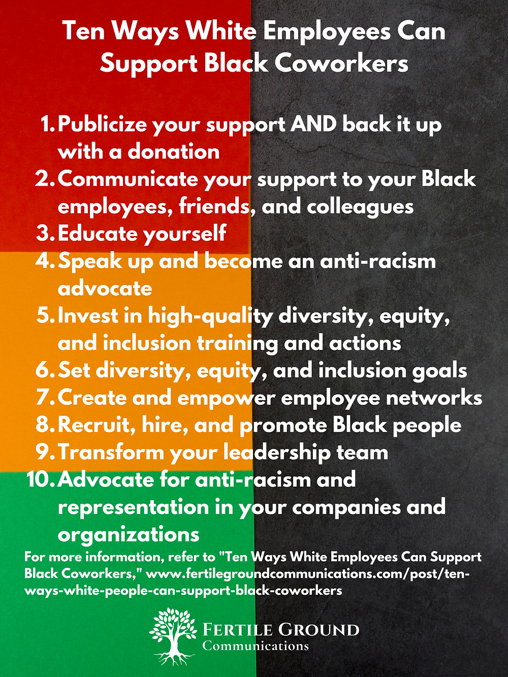 Ten Ways White Employees Can Support Black Coworkers