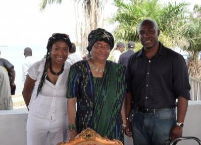 AmiCietta with President Eleanor Johnson Sirleaf