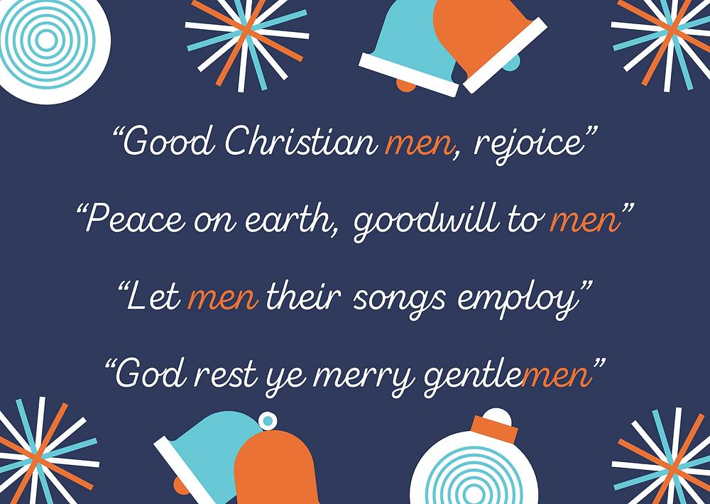 Sexist language in Christmas carols