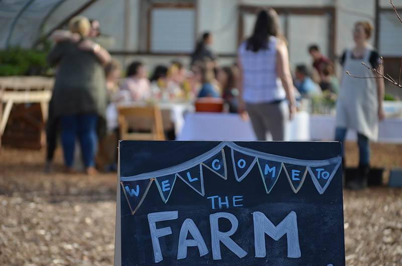 The Our Table Farm sign