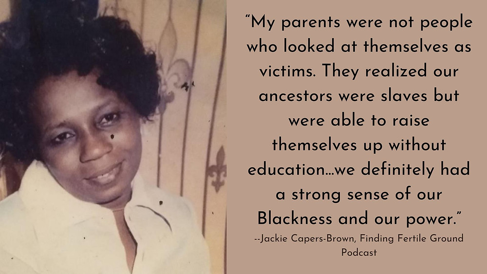 Jackie Capers-Brown on the Finding Fertile Ground podcast