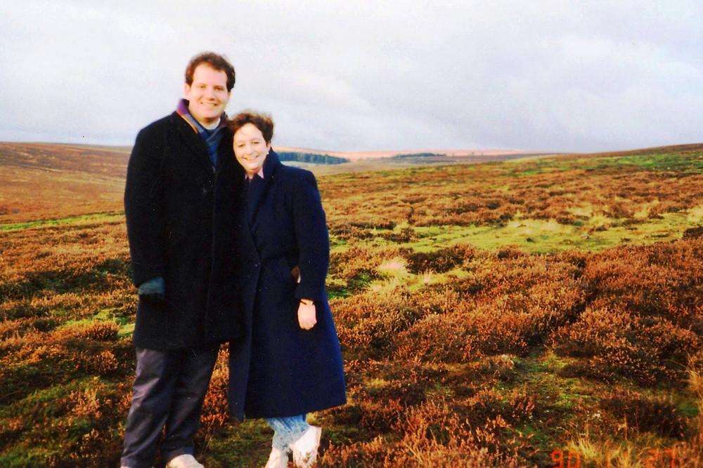 Marie and Mike on Yorkshire moors