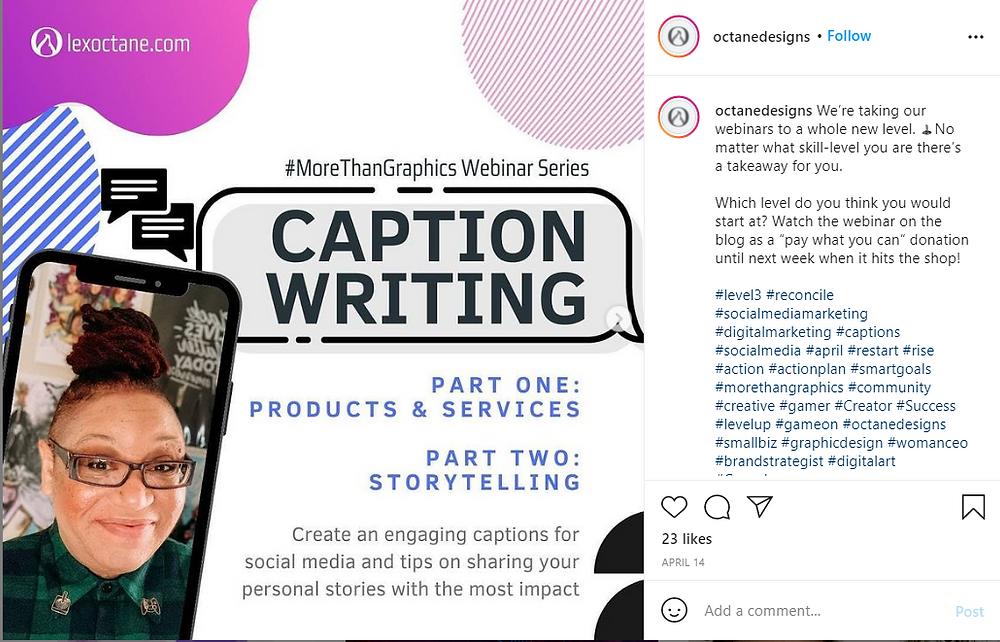 Caption writing webinar