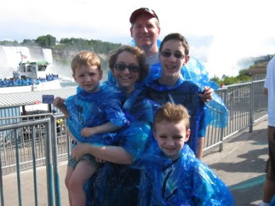 Visiting Niagara Falls in 2009 with my own three sons