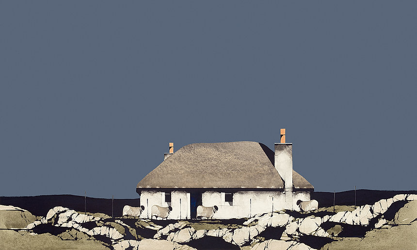 Baghasdale South Uist (With Sheep) 12x20