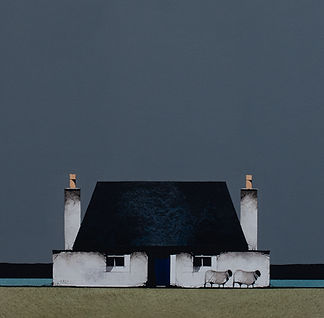 Tiree Blue Door - Image Size 9.5 x 9.5 i