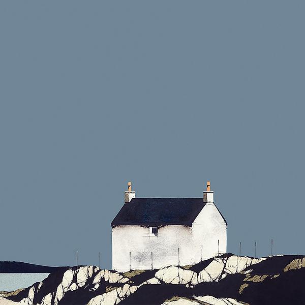 Eriskay Cottage Blue Sky 12x12.jpg