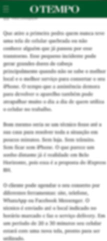 CONSERTO DE IPHONE BH