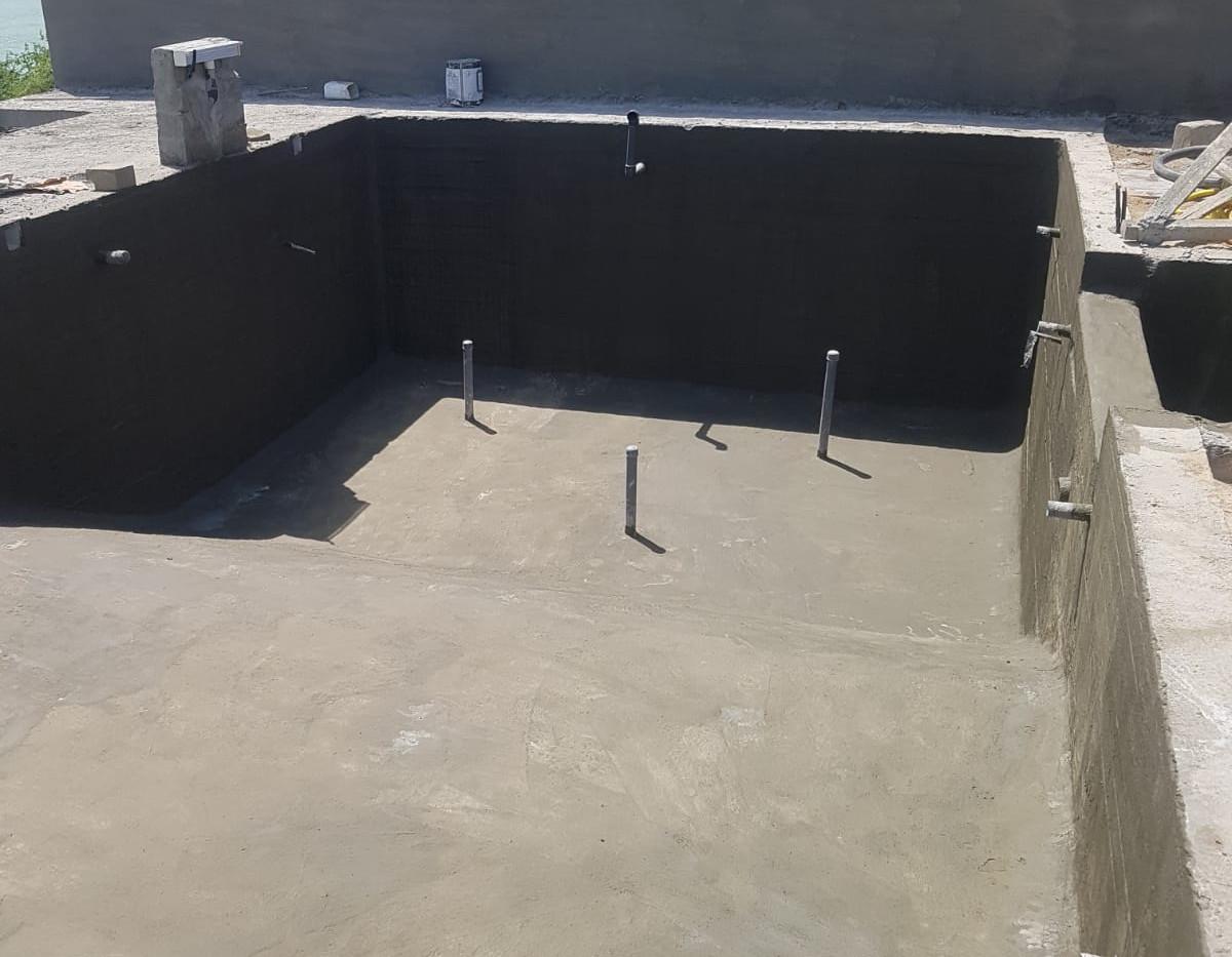 Swimming Pool Kuwait under Construction