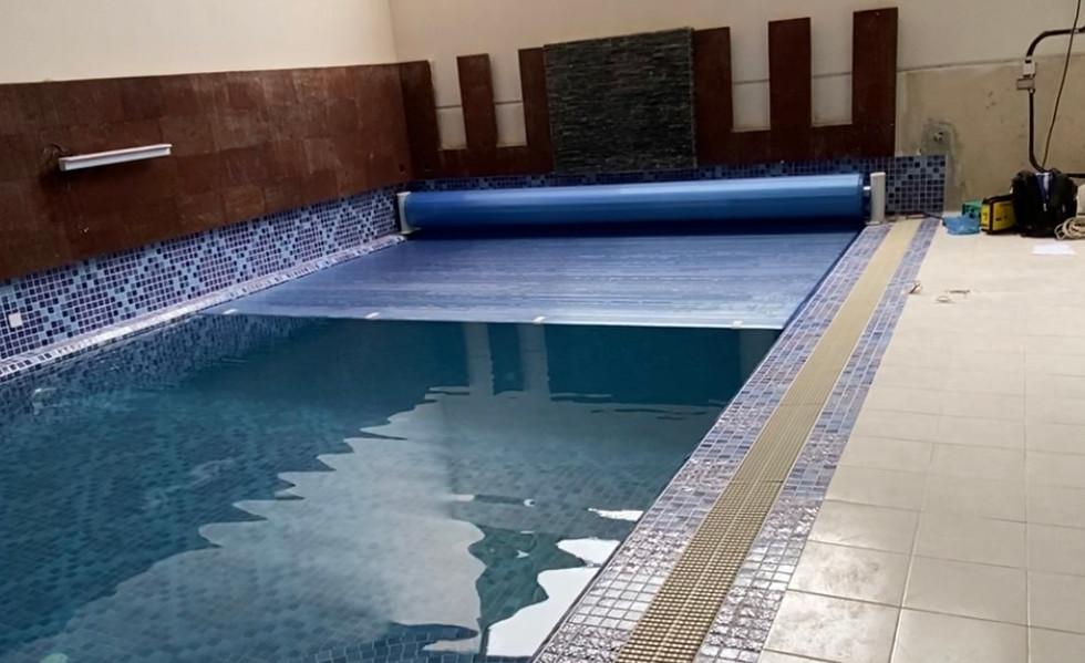 PVC slats swimming pool cover kuwait - ا