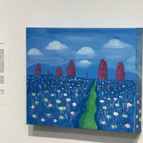 Valley of Flowers painting in the collection of the Executive Director of the Agora Gallery