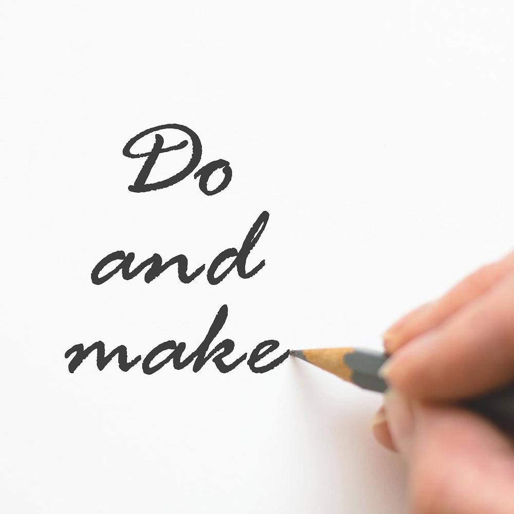 ความแตกต่างในการใช้ do กับ make ในภาษาอังกฤษ