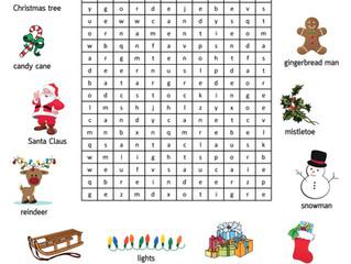 แจกฟรี! เกมค้นหาคำศัพท์ในเทศกาลคริสต์มาส