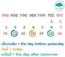 คำศัพท์น่ารู้เกี่ยวกับการเรียกวันเป็นภาษาอังกฤษ