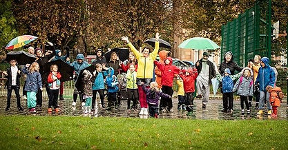 Dancing in the rain with #Pollokshields community at 830 in the morning on a wet rainy win