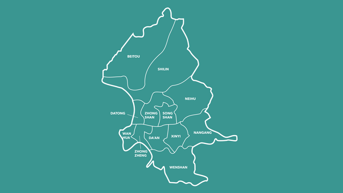 12 Districts of Taipei City (Part 1)