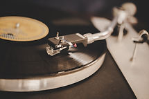 spinning-record-player-with-vintage-viny