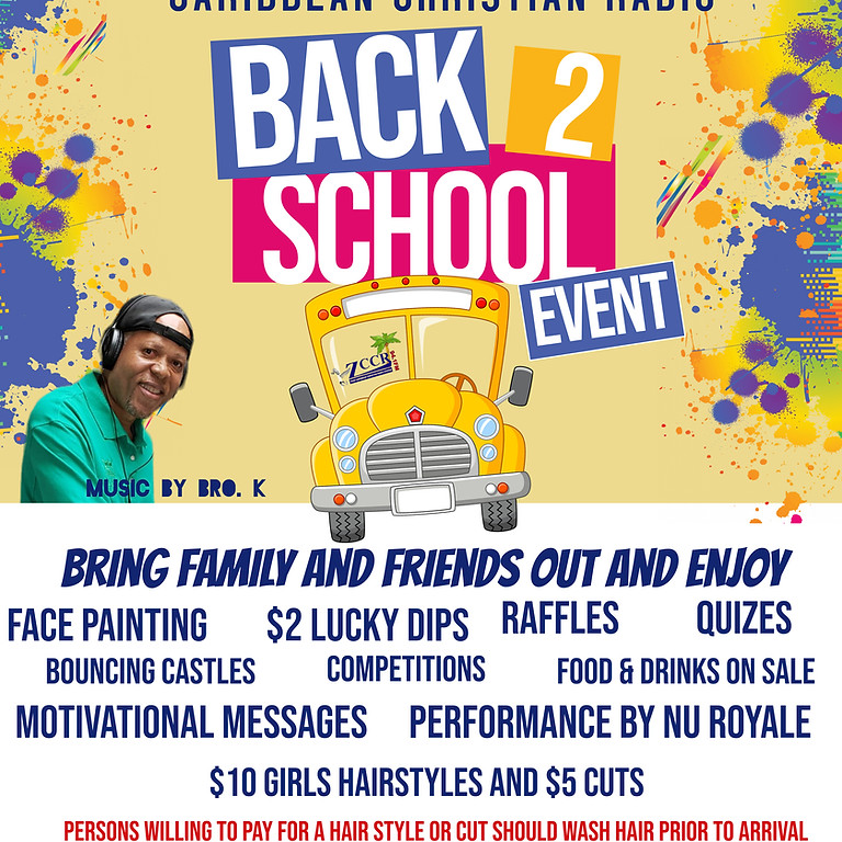 A BACK 2 SCHOOL EVENT
