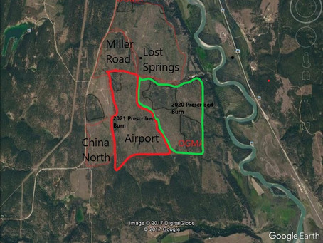 PRESCRIBED BURN PLANNED FOR SPRING 2021 In Airport Pasture,