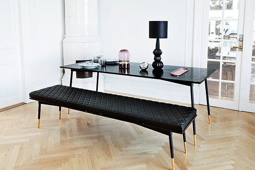 SET - Dining Table/Bench BLACK