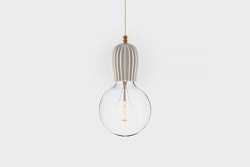 Concrete lamp RIB White