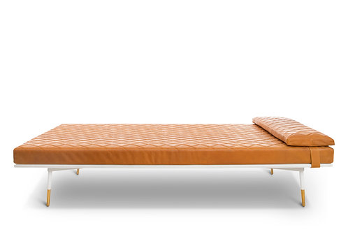 Cognac/White Daybed