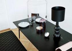 MIDNIGHT BLACK DINING TABLE