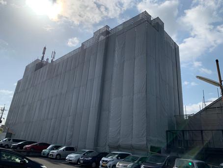 天理市内でマンションの大規模改修工事が着工いたしました。