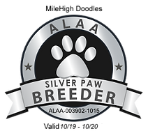 MileHigh Doodles ALAA Silver Paw Logo 20