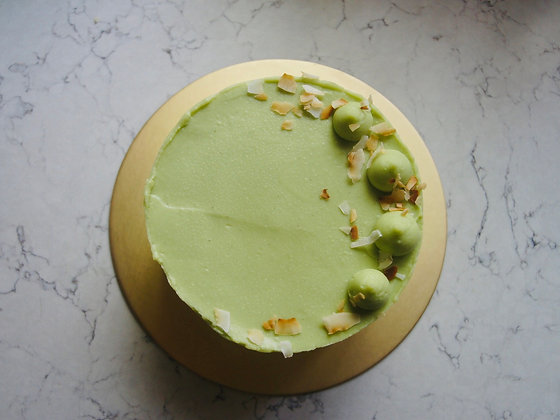 Pandan Coconut Cake