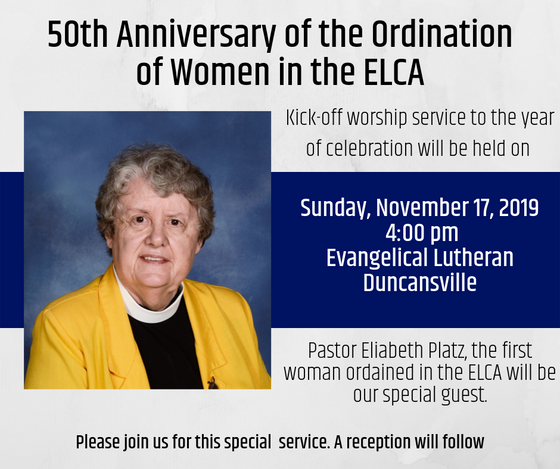 Join us for a celebration of women in ministry