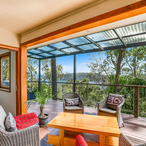 Avalon tree tops with water views