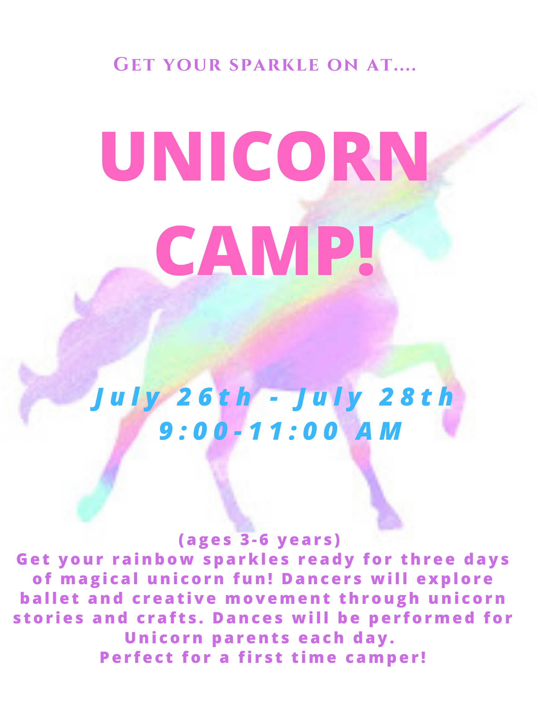 Unicorn Camp Poster