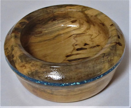 SMALL HAND TURNED WOODEN BOWL**
