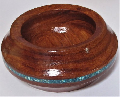 Hand Turned Wooden Bowl**