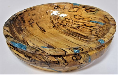 Spalted Maple Wood Bowl**