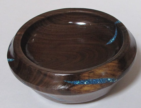 Black Walnut Hand Turned Bowl**