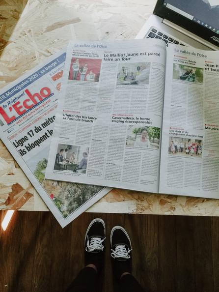 Article dans les journaux, l'Echo et la Gazette