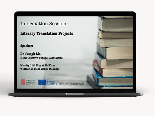 Webinar - Literary Translation Projects
