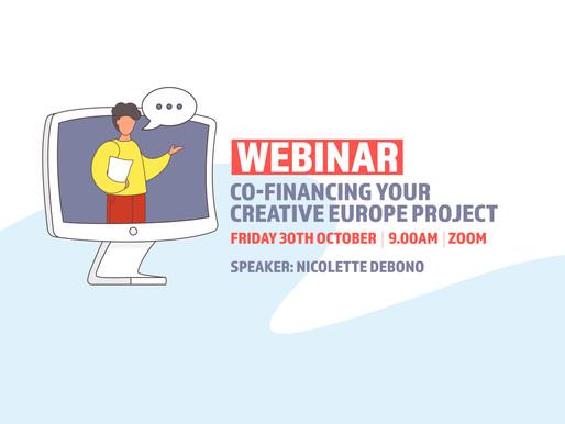 Co-financing your Creative Europe project - Webinar