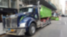 Roll Off Dumpster Container on Truck