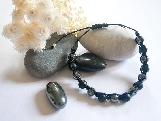 Agate noir, hematite