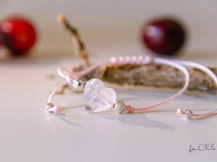Cœur de quartz de rose