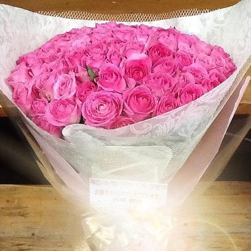 11/ピンクのバラの花束