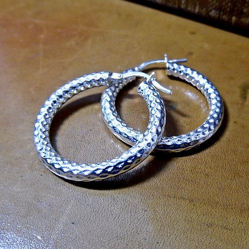 Silver Creole Earrings