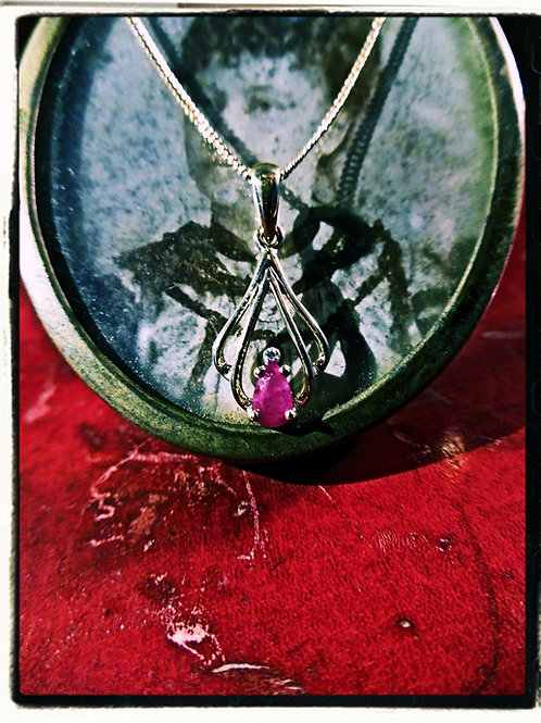 Gold, Ruby & Diamond Necklace