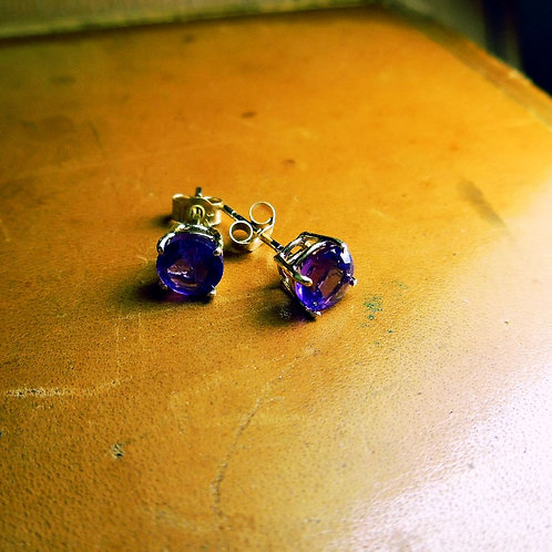 Gold & Amethyst Earrings