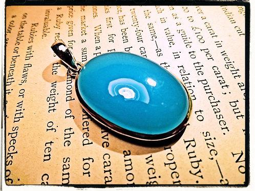 Silver & Blue Onyx Pendant