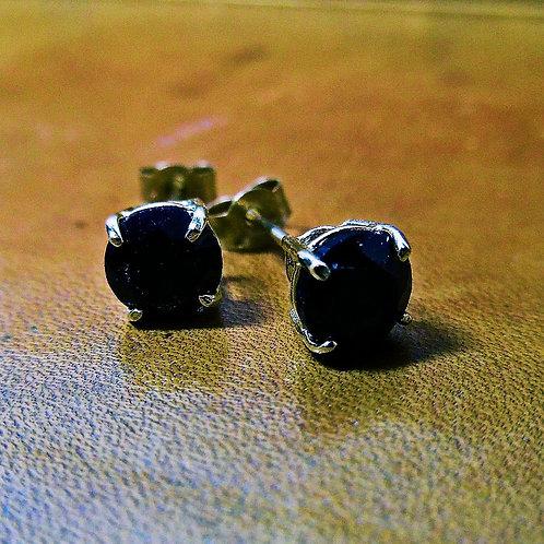 Gold & Sapphire Earrings